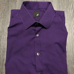 J. Ferrar Slim Fit 16-16 1/2, 32-33 Purple